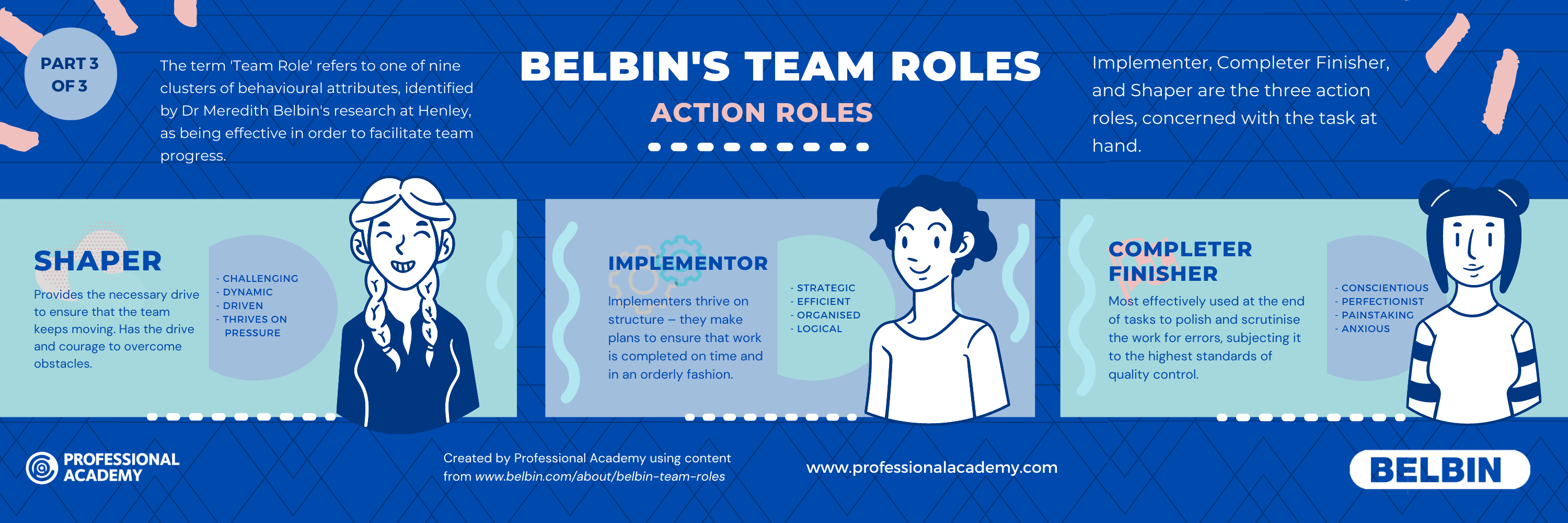 Belbins Theory team roles infographic