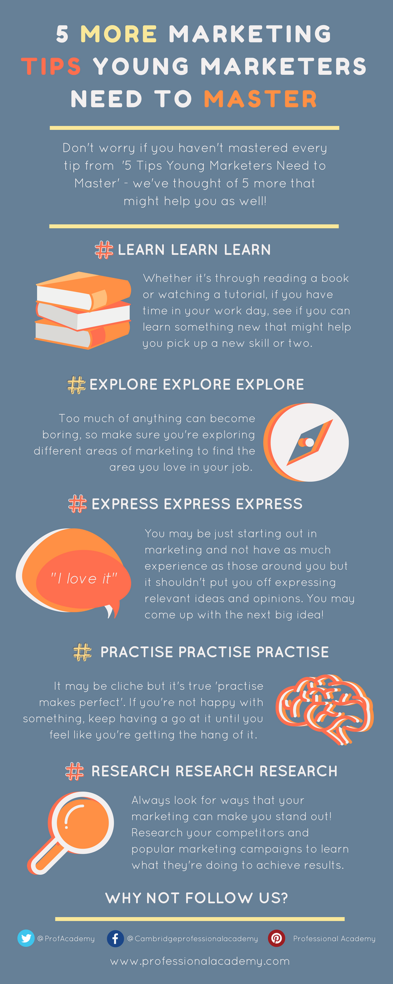 5 More Marketing Tips Young Marketers Need to Master - Infographic