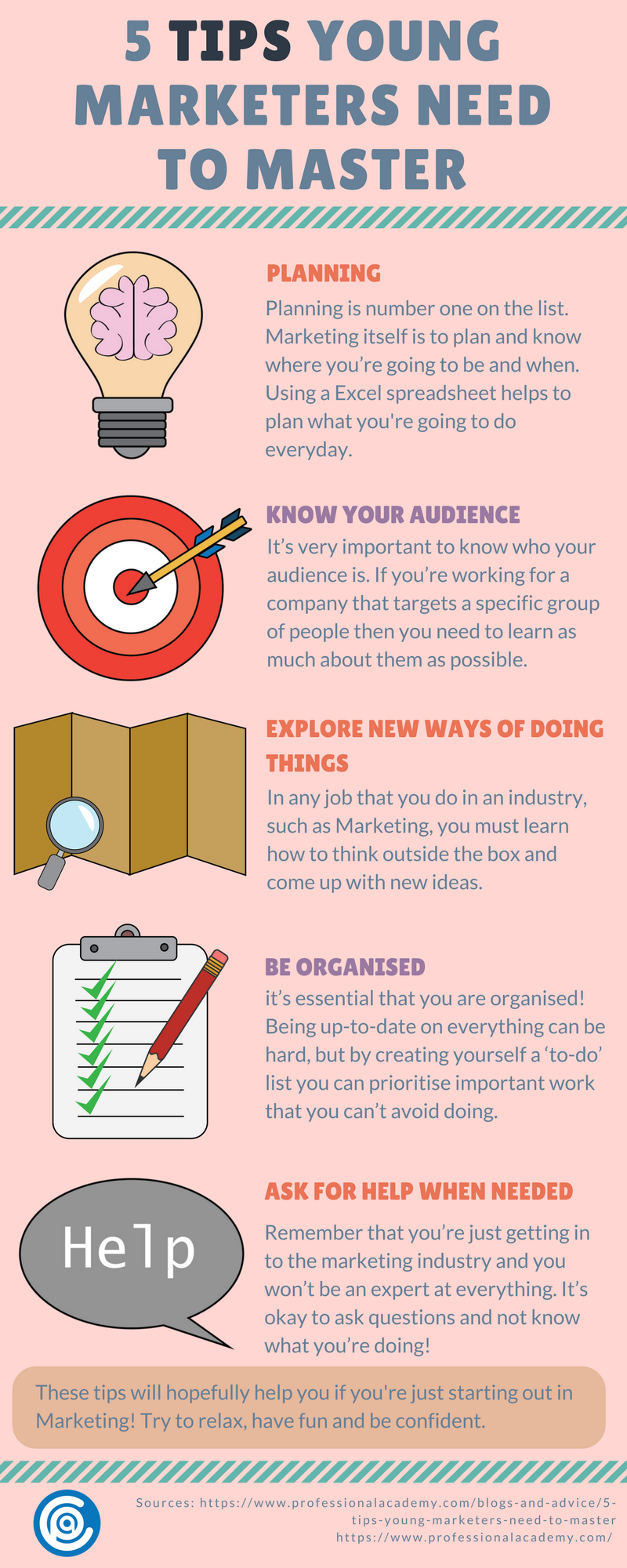 5 Tips Young Marketers Need to Master - Infographic
