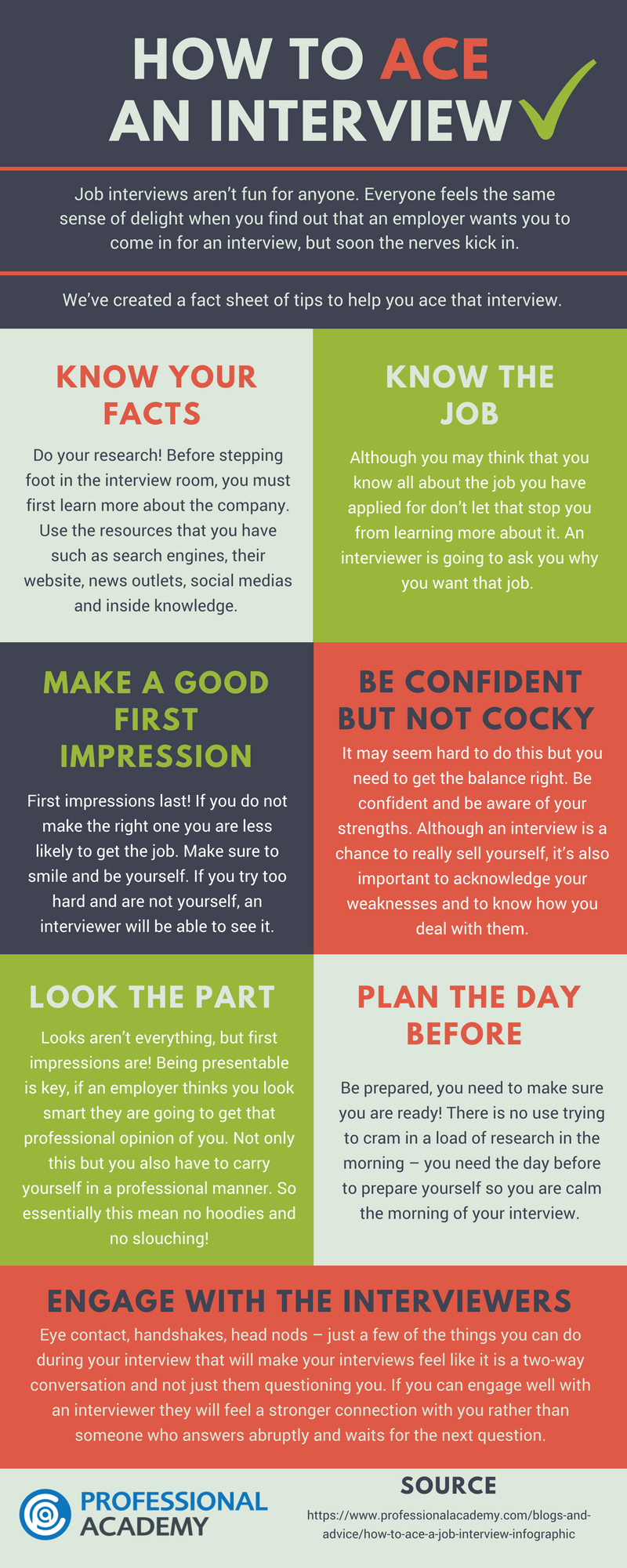 How to Ace a Job Interview - Infographic