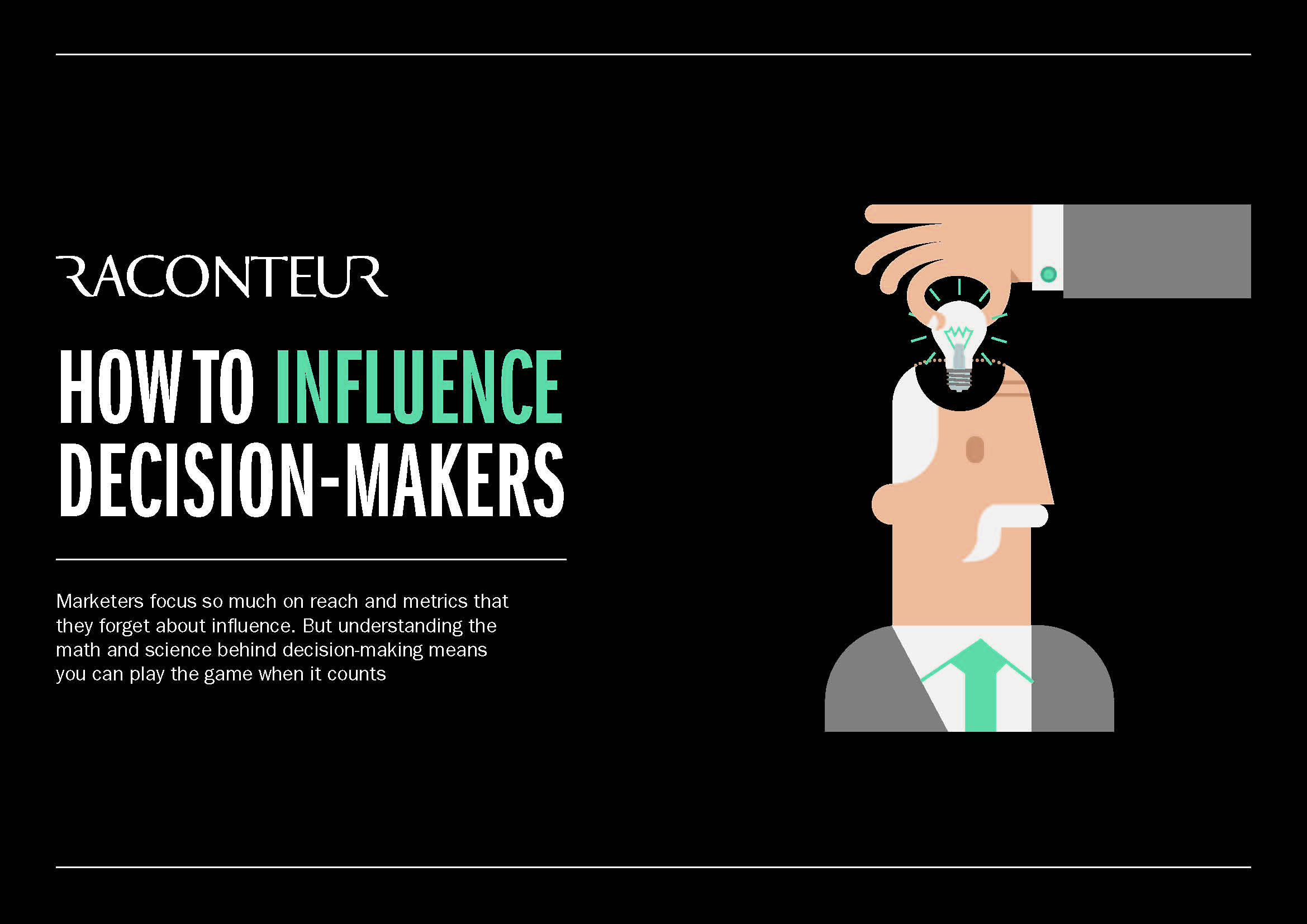 How to influence decision makers infographic