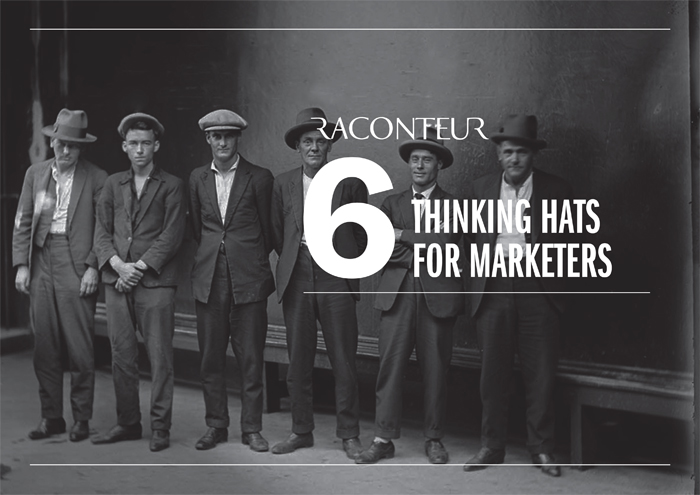 6 Thinking hats for marketers infographic