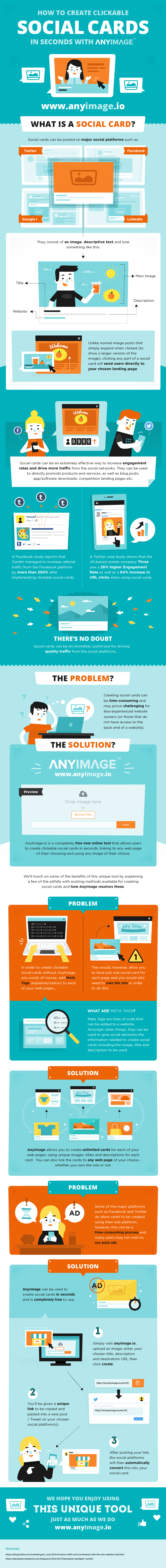 How to Create Clickable Social Cards in Seconds - Infographic