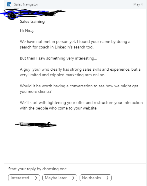 How not to message on LinkedIn